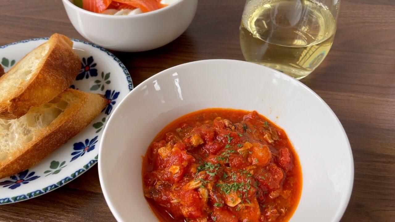 サバとトマト缶煮